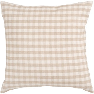 Audrey Ivory Check 18-inch Decorative Pillow