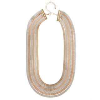 Alexa Starr Two-tone Six-row Necklace