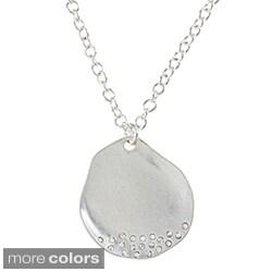 Alexa Starr Rhinestone Hammered Necklace