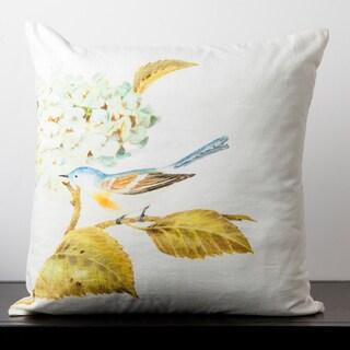 Lillian Winter White Hydrangea Flower 18-inch Decorative Pillow