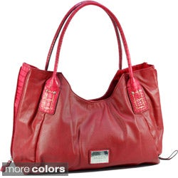 Dasein Women's Croc Embossed Tote Bag
