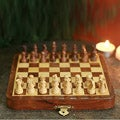 Seesham and Kadam Woods 'On the Go' Travel Chess Set (India)