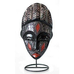 Handcrafted Sese Wood 'Communion' African Mask (Ghana)