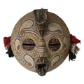 Handcrafted Sese Wood 'Flying Protector' Africa Mask (Ghana)