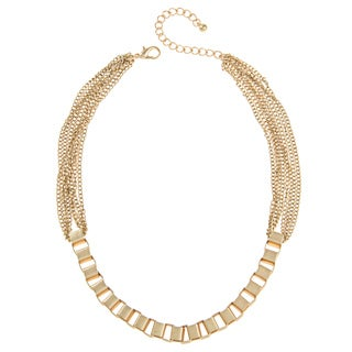 Alexa Starr Goldtone Box and Multi-chain Necklace