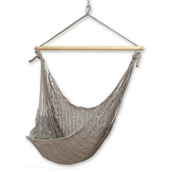 Handcrafted Cotton 'Pate' Large Deluxe Hammock Swing Chair (Mexico)