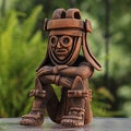 Ceramic 'Rain God Tlaloc' Figurine (Mexico)