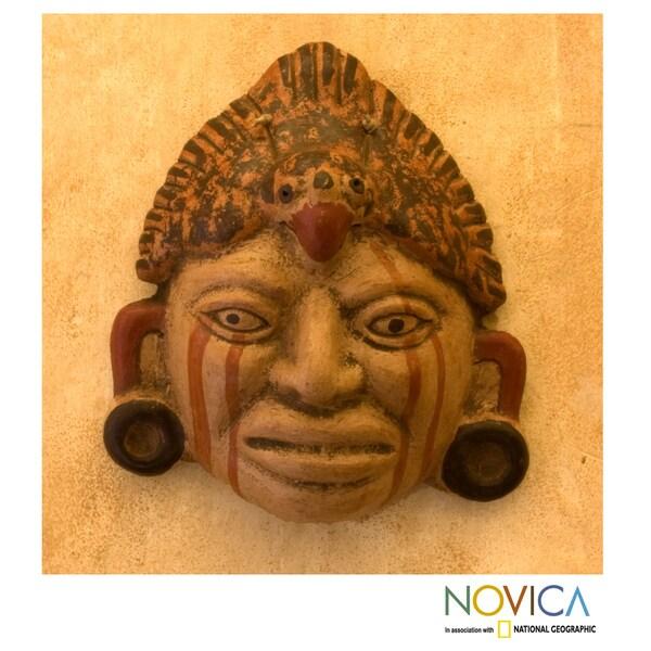 Handcrafted Ceramic 'Maya Priest' Mask (El Salvador)