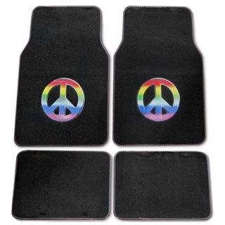Rainbow Peace 4-piece Car Floor Mats