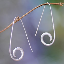 Sterling Silver 'Balinese Fern' Earrings (Indonesia)