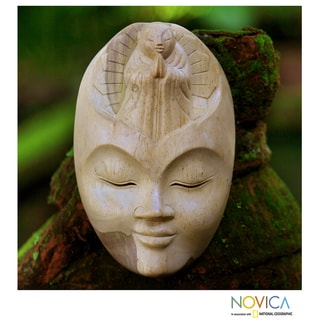 Hibiscus Wood 'Face of Piety' Mask (Indonesia)