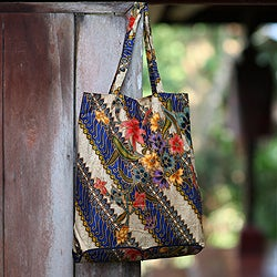 Cotton 'Jogjakarta Legacy' Foldable Batik Tote Bag (Indonesia)
