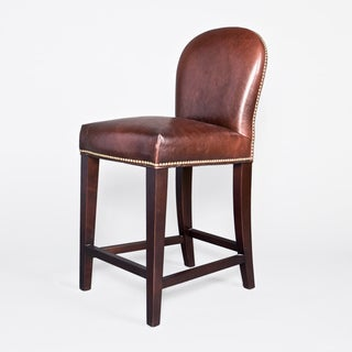Belmont Leather Bar Stool