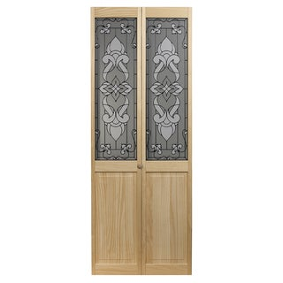 Eternity Unfinished Decorative Glass Bi-fold Door