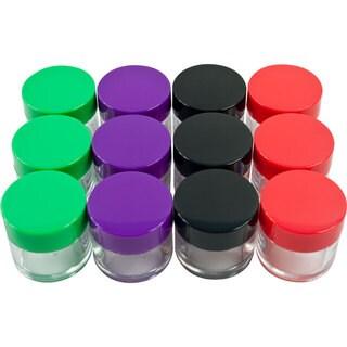 Stalwart 20 ml Color Coded Plastic Jars (Set of 12)