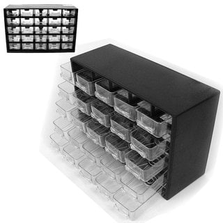Stalwart 25-Drawer Storage Box for Hardware or Crafts