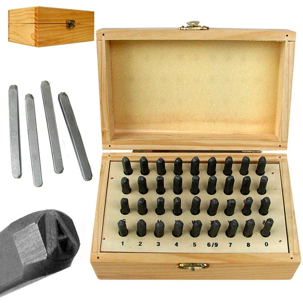 Stalwart 36-piece Letter and Number Stamping Set