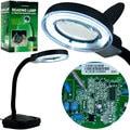 Trademark Tools Fluorescent Gooseneck Magnifier Light with Power Lens