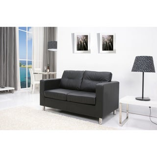 Detroit Black Loveseat