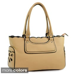 Dasein Women's Structured Scalloped Top Tote Bag