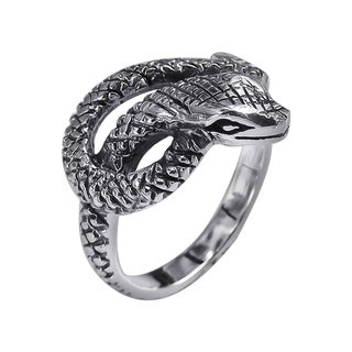 Foxy Snake Coil Wrap Around .925 Silver Ring (Thailand)