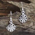 Cute Celtic Knot .925 Silver Dangle Earrings (Thailand)