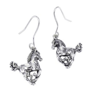 Gorgeous Elegant Horse .925 Silver Dangle Earrings (Thailand)