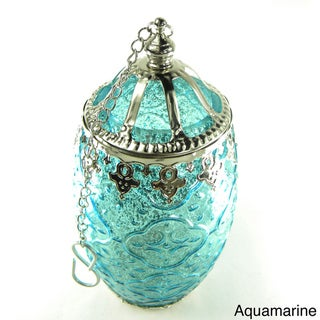 Glass Filigree Candle Lantern