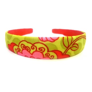 Crawford Corner Shop 3/4-Inch Red Pink Lime Floral Headband