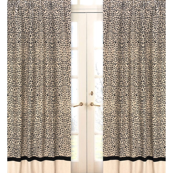 Animal Safari 84-inch Curtain Panel Pair