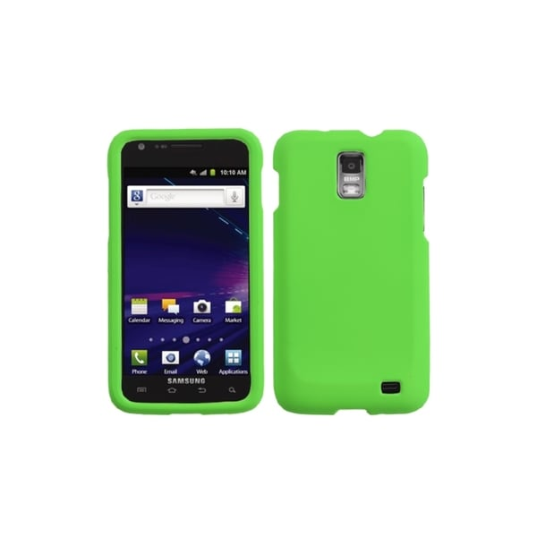 INSTEN Green Rubberized Phone Case Cover for i727 Galaxy S II