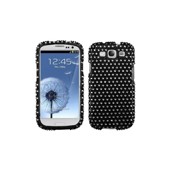 MYBAT Black/White Bling Dots Hard Cover Case for Samsung© Galaxy S3