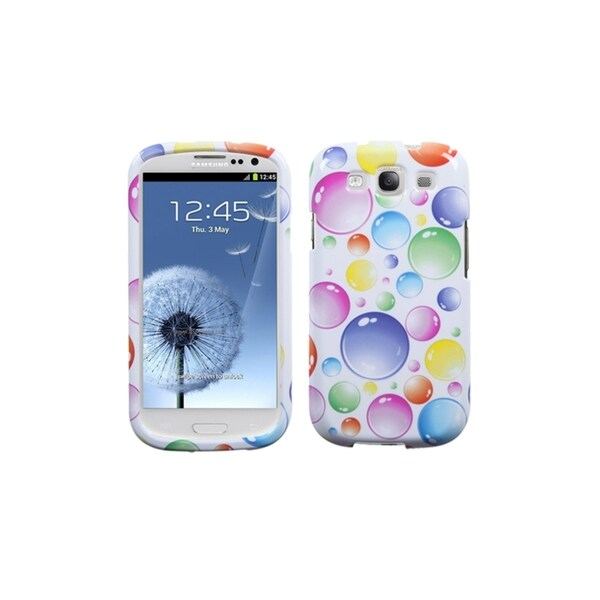 INSTEN Rainbow Colorful Bubbles Cover Case Cover for Samsung Galaxy S3/ III
