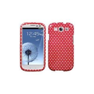 MYBAT Red White Heart Dots Hard Cover Case for Samsung© Galaxy S3