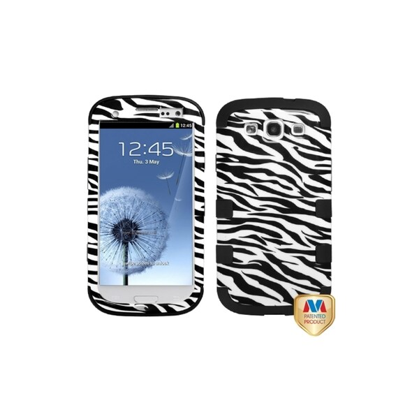 MYBAT Zebra Skin/ Black TUFF Hybrid Cover Case for Samsung© Galaxy S3