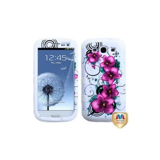 MYBAT Morning Petunias White TUFF Hybrid Case for Samsung� Galaxy S3