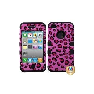 MYBAT Pink Leopard Skin/ Black TUFF Hybrid for Apple� iPhone 4/ 4S