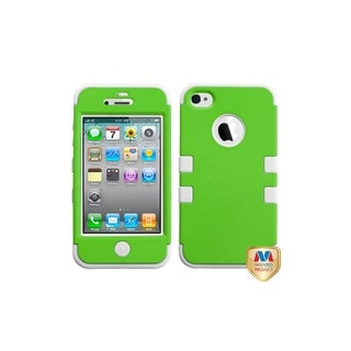 MYBAT Rubber Dr Green/ White TUFF Hybrid Case for Apple� iPhone 4/ 4S