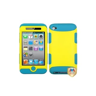 MYBAT Yellow/ Teal TUFF Hybrid Case for Apple iPod touch Generation 4