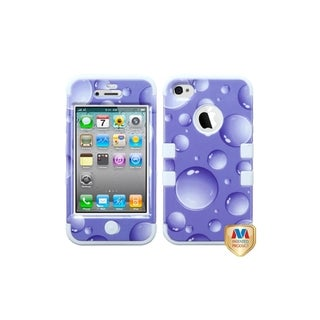 MYBAT Purple Bubbles/ White TUFF Hybrid Case for Apple� iPhone 4/ 4S