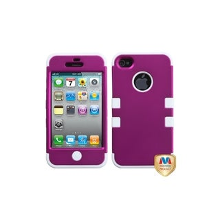 MYBAT Titanium Pink/ White TUFF Case for Apple� iPhone 4/ 4S