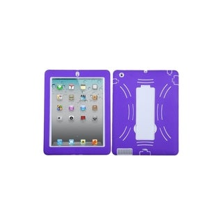 MYBAT White/ Purple Symbiosis Stand Case for Apple� iPad 2/ 3/ 4