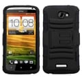 ASMYNA Black Advanced Armor Stand Protector Case Cover for HTC One X+