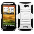 ASMYNA White/ Black Armor Stand Protector Case Cover for HTC One X+