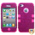 MYBAT Pink Diamond/ Pink TUFF Hybrid Case Diamond for Apple iPhone 4