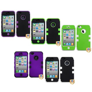 BasAcc Apple iPhone 4/ 4S Colorful Dual Layer High Impact TUFF Hybrid Case