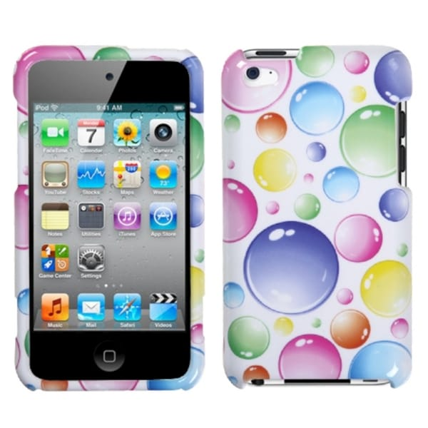 INSTEN Rainbow Bigger Bubbles Case Cover for Apple iPod touch Generation 4