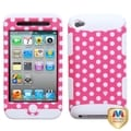 MYBAT Dots Pink/white/White TUFF Hybrid Case for Apple iPod touch 4
