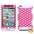 MYBAT Dots Pink/white/White TUFF Hybrid Case for Apple� iPod touch 4