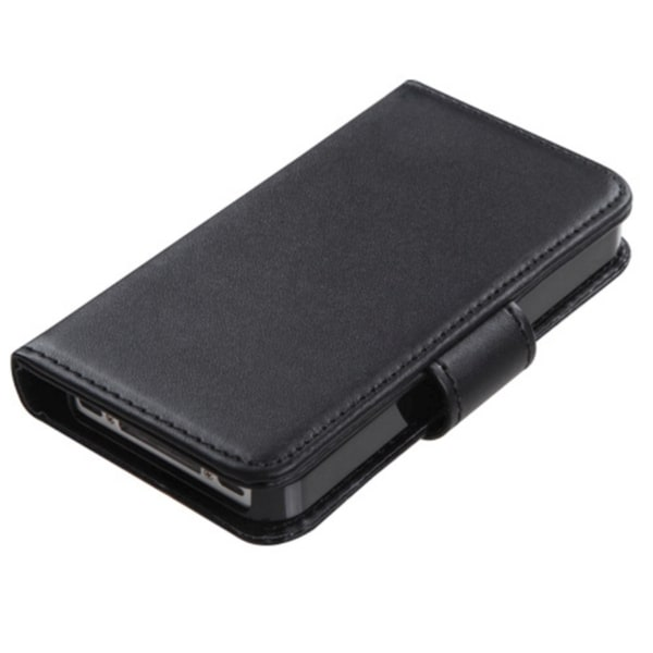 INSTEN Black Book-Style Wallet with Tray for Apple iPhone 4